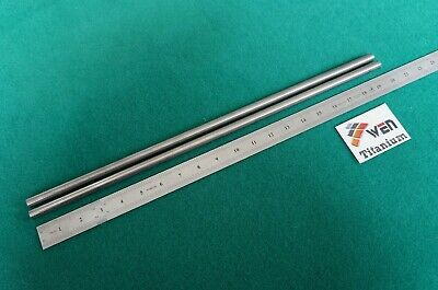 12mm Dia Titanium 6al-4v Round Bar .472 X 20 Ti Grade 5 Rod Metal Alloy 2pcs