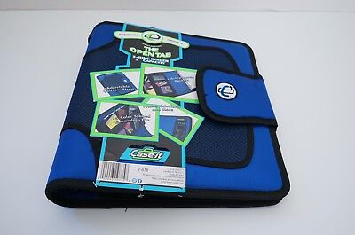 Case-it The Open Tab 3-ring Binder 2 Capacity Blue