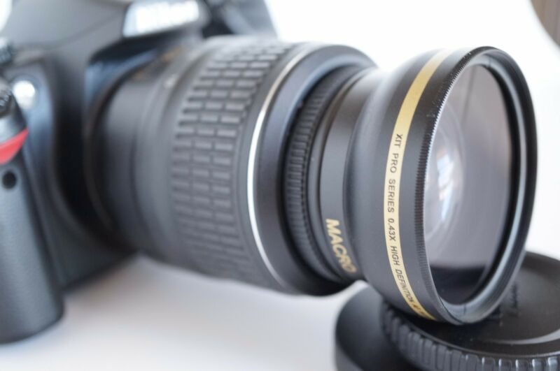 Wide Angle Macro Close Up Semi Fisheye Lens for Nikon D7100 D7000 D3100 D40X New