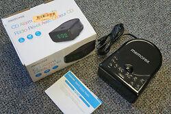 Memorex CD AM/FM Alarm Clock Radio Full Stereo w/ Universal Line In