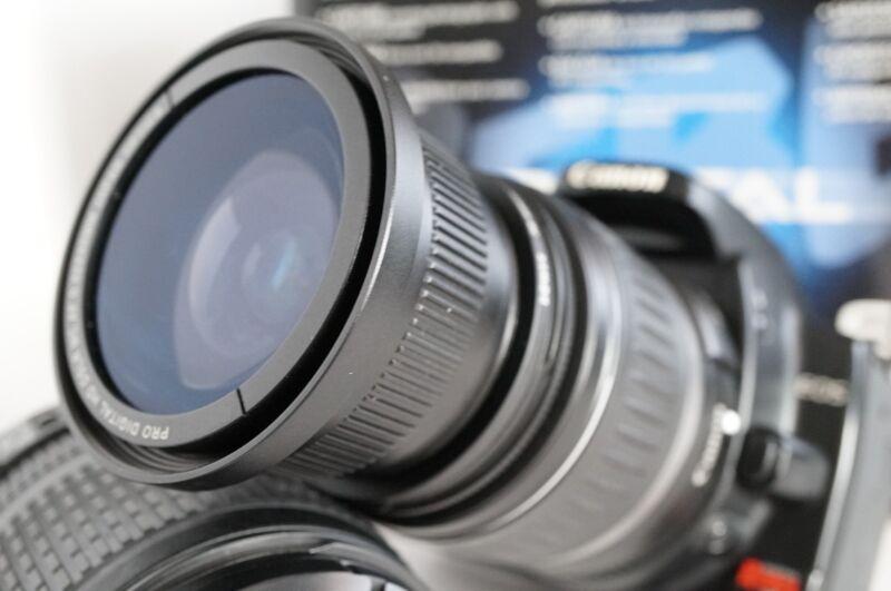 Ultra Wide Angle Macro Fisheye Lens for Canon Eos Digital Rebel t5 t3i sl1 + UV