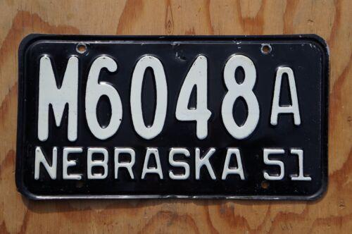 1951 Nebraska Passenger License Plate