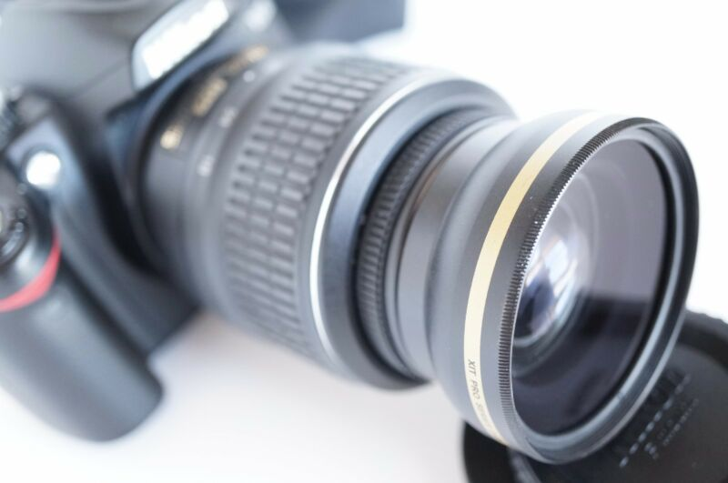 Wide Angle Macro Fisheye Lens for Nikon dslr d5300 d3200 d40X 52mm Polarizer New