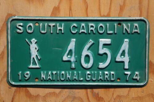 1974 South Carolina National Guard License Plate # 4654
