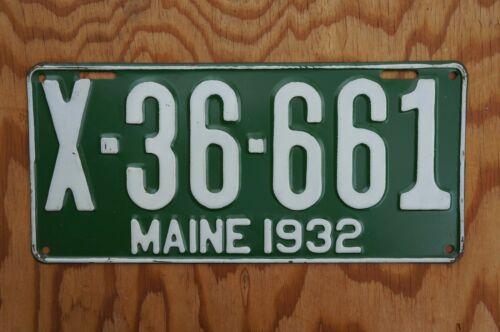 1932 MAINE Truck License Plate - HIGH QUALITY ORIGINAL - UNUSED