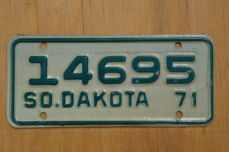 1971 South Dakota Motorcycle License Plate