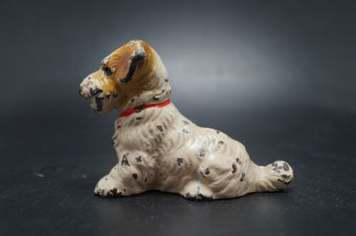VTG Hubley Cast Iron SEALYHAM TERRIER Dog Card Holder
