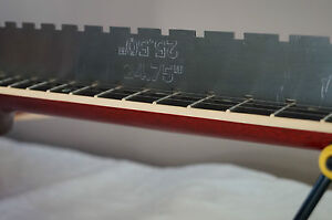 Guitar Notched Straight Edge.  Fret Rule. Luthier tool for guitar set up.