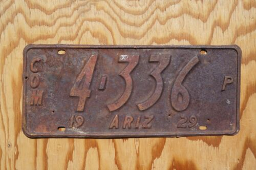 1929 GREENLEE County ARIZONA License Plate