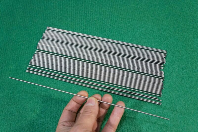 "2mm Dia Titanium 6al-4v round bar .078"" x 10"" Ti Wire Welding grade 5 rod 50pcs"