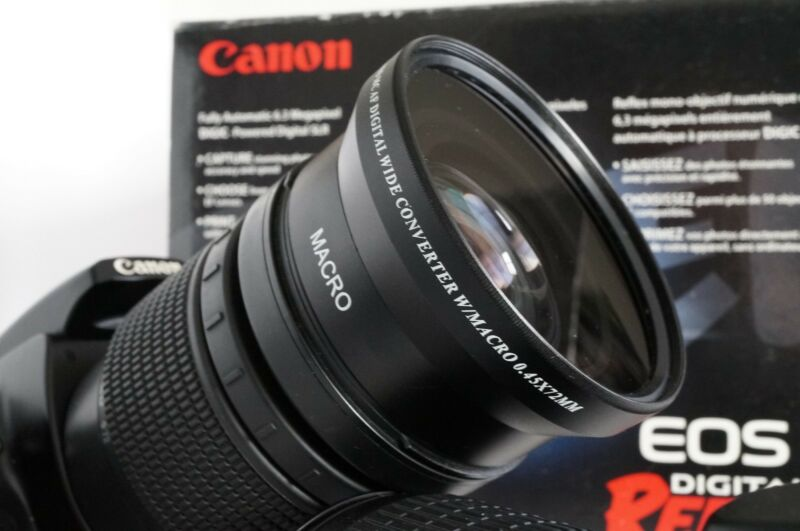 New 72mm .45X Wide Angle Macro Lens For Canon EF EF-S 28-135mm 28-200mm 18-200mm