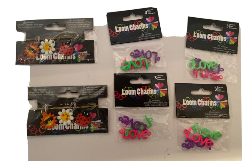 Charms For Rainbow Loom Rubberband Bracelets 6 Packs 18 Charms