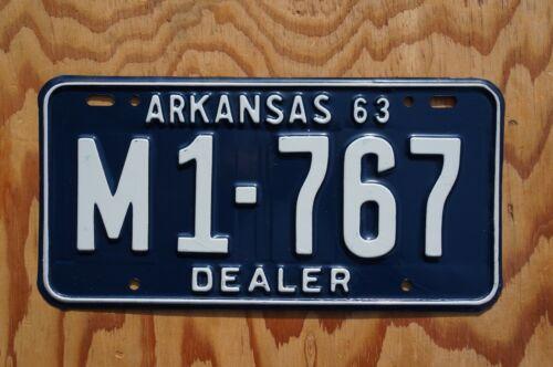 1963 Arkansas DEALER License Plate - High Quality