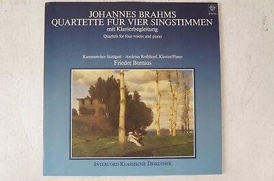 Brahms Quartette für vier Singstimmen Kammerchor Stuttgart Frieder Bernius  LP2