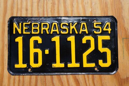1954 SEWARD COUNTY Nebraska License Plate # 16-1125
