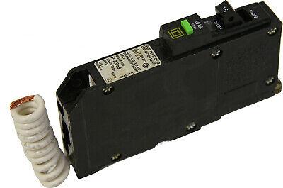 Square D Qob115afi Circuit Breaker 15a 1 Pole 120v Arc Fault Green Test Button