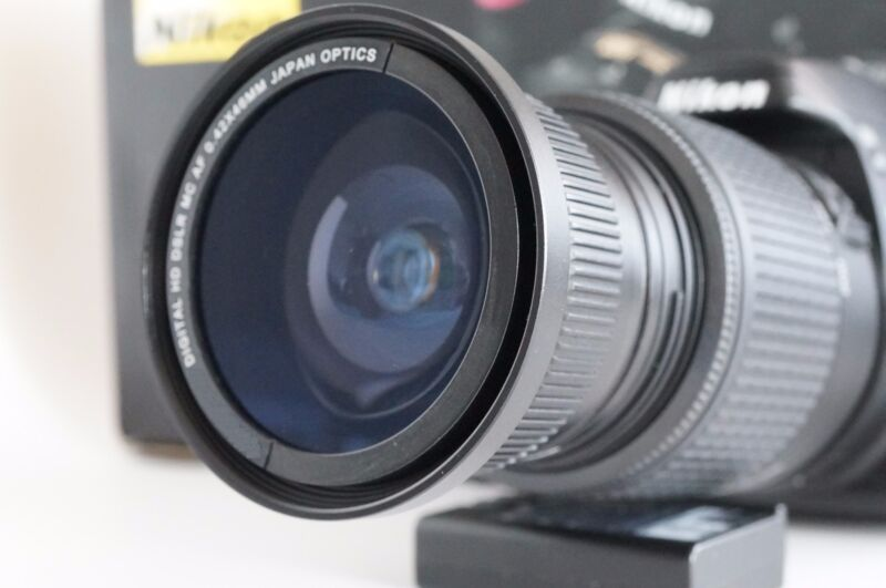 Wide Angle Macro Closeup Fisheye lens for Nikon D Series with 18-55 af-s dx VR &