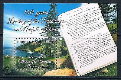 NORFOLK ISLAND PITCAIRNERS 160 YEARS LAST LOCAL ISSUE MNH