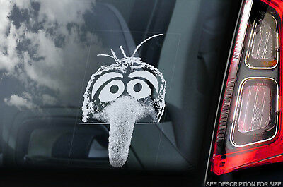 Gonzo - Car Window Sticker - Muppet Show Peeper Sesame Street Sign Decal - V01