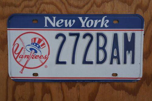 AUTHENTIC New York YANKEES Baseball License Plate # 272 BAM