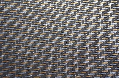 Blacksilver And Gold Carbon Fiber Hydrographic Film
