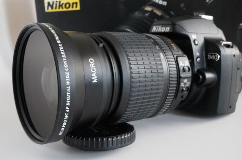 New .43x HD4 Wide Angle Macro Lens for Nikon Nikkor 18-105mm 18-140mm AF-S DX