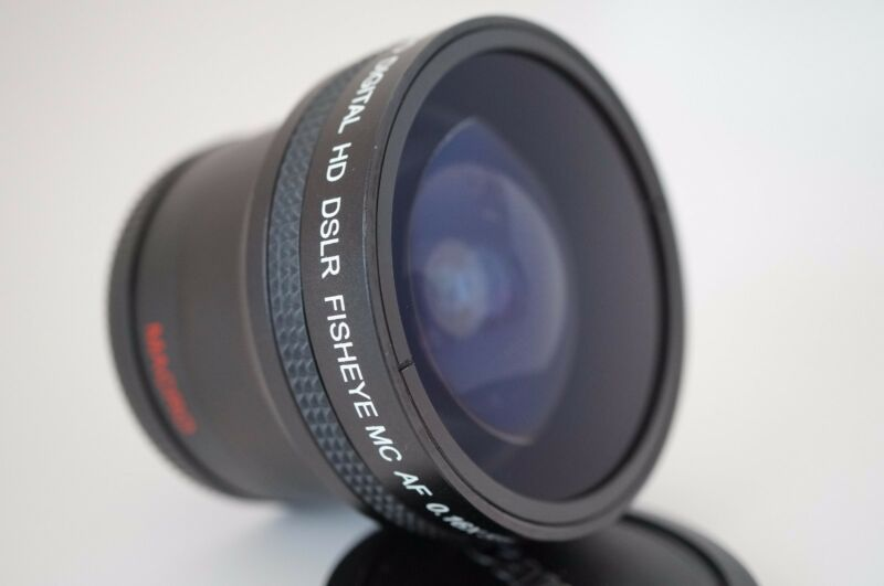 Super Ultra Wide Angle Macro Fisheye LENS FOR Canon t5 sl1 t3i  EF-S 18-135mm IS