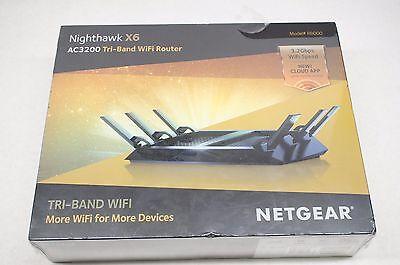 New Netgear Ac3200 Nighthawk X6 Tri Band Wifi Router  R8000    Sealed