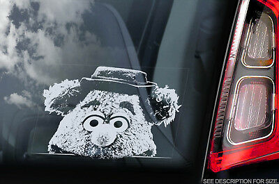 Fozzie Bear - Car Window Sticker - Muppet Show Peeper Sesame Street Sign Decal