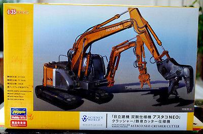 Hitachi Astaco Neo Doppel Arm Abriss Maschine Crusher Cutter 1:35 Hasegawa 52161