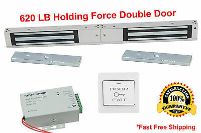===DOUBLE DOOR====620LB X2 Electric Lock Electromagnetic Magnetic Access System4