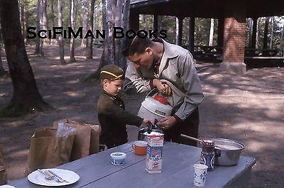 Milk Man Uniform (KODACHROME 35mm Slide Handsome Man Boy Uniform Genesee Country Milk Picnic)