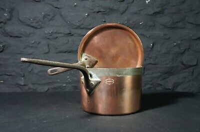 Antique Copper Pan & Lid ~ Temple & Crook ~ Decorative Saucepan Kitchen Display