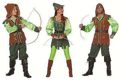 Robin Hood Peter Pan Jäger Girl Kostüm Kleid Mittelalter Hippie Disco Bogen (Peter Pan Damen Kostüme)
