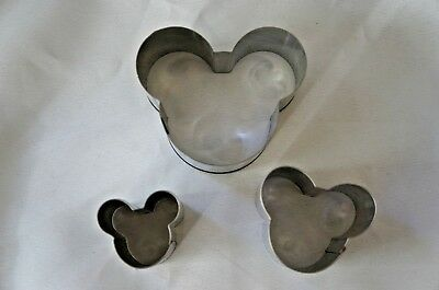 Stainless Steel Mickey Mouse Cooking Steaming Baking Rings Molds Cutters