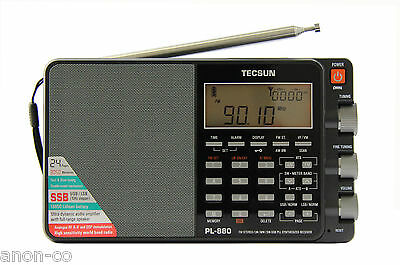 TECSUN PL-880 PLL Triple Conversion AM/FM/LW/SW SSB Radio >