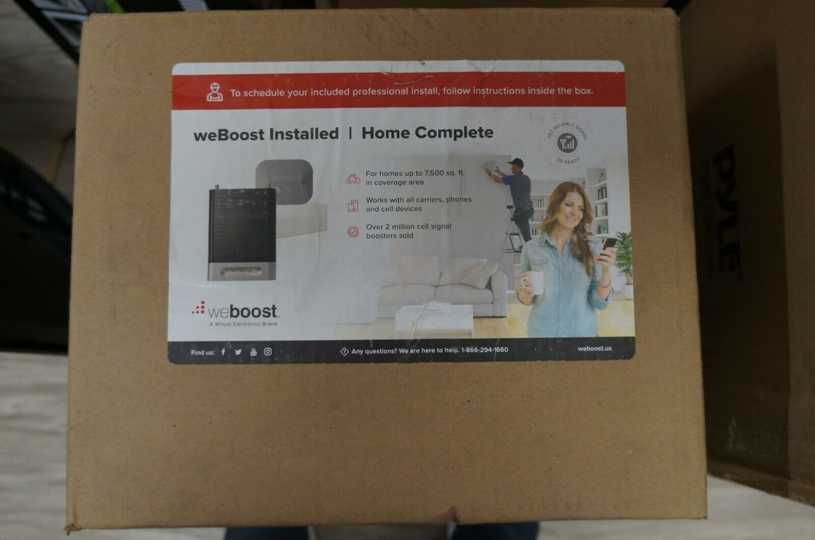 NEW weBoost 474445 Installed Home Complete Signal Booster Ki