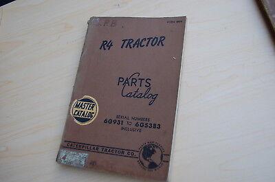 Caterpillar R4 Tractor Crawler Dozer Parts Manual Book Catalog Vintage 6g List