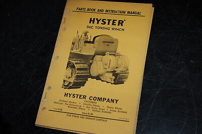 Hyster D6c Tractor Towing Winch Owner Parts Instruction Manual Book Catalog Cat