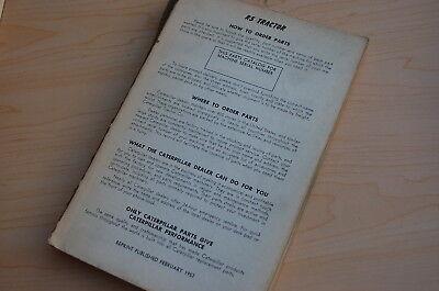 Caterpillar R5 Tractor Crawler Dozer Parts Manual Book Catalog Vintage List Cat