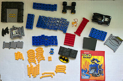 Fisher Price Trio Dc Super Friends Batcave Building Play Set Complete