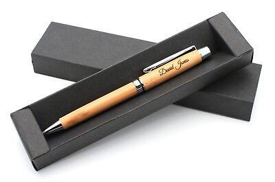 Bambus Kugelschreiber mit Ihrer Gravur personalisiert + Geschenkbox ()
