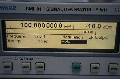 Rohde Schwarz Sml 01 1090.3000.11 Signal Generator.9 Khz 1.1 Ghz