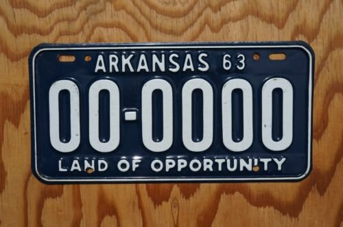 1963 Arkansas Sample License Plate - High Quality