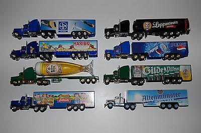Werbetruck - 8 US Trucks - verschiedene Motive - 1:87 - Spur H0 - 1