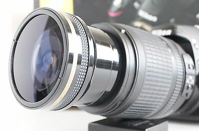 Ultra Wide Angle Macro Fisheye lens for Nikon 55-200 & 18-55 VR AFS AF-S DX New