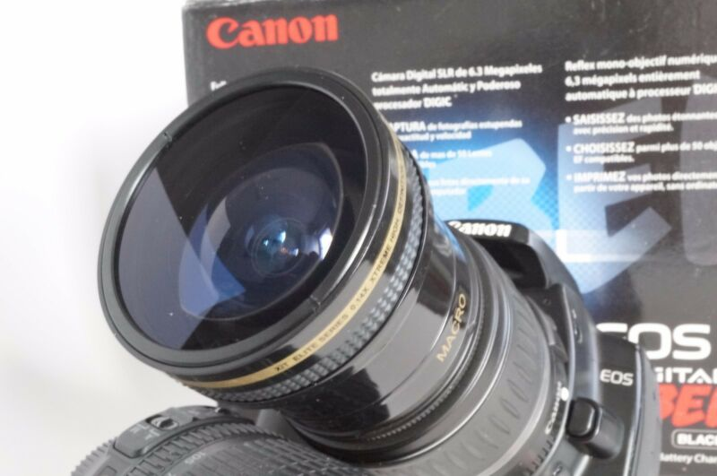 Ultra Wide Angle Macro Fisheye Lens for Canon Eos Digital Rebel T5 w 18-55 IS