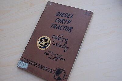Caterpillar Forty Tractor Crawler Dozer Parts Manual Book Catalog Vintage 40 3g