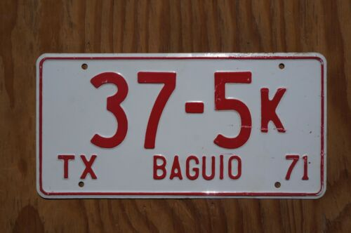 1971 BAGUIO Philippines TAXI License Plate