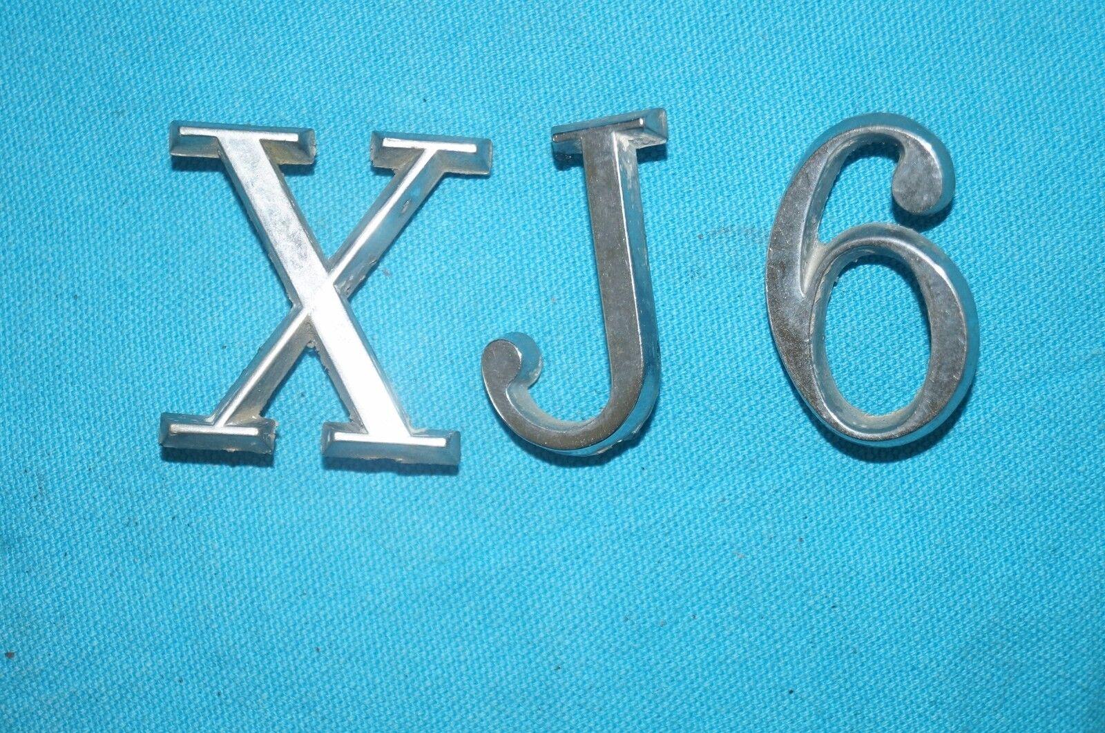 Vintage JAGUAR XJ6 X J 6  Emblem logo decal metal
